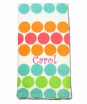 Monogrammed Beach Towel  - Summer Dots