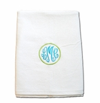 Monogrammed Beach Towel with Master Circle Monogram