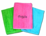 Monogrammed Beach Towels -  7 Color Choices
