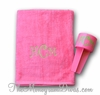 Monogrammed Beach Towels - Bright Tropical Colors