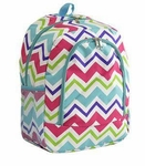 Monogrammed Chevron Print Backpack