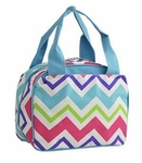 Monogrammed Chevron Print Lunch Bag