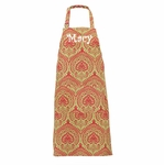 Monogrammed Christmas Apron - Holiday Damask - Personalized Free!