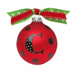 Monogrammed Christmas Ornaments - Fun Christmas Dots 2