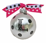 Monogrammed Christmas Ornaments -  Love my Pink 2