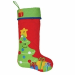 Monogrammed Christmas Stocking - Personalized Christmas Stocking - Tree Style