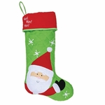 Monogrammed Christmas Stocking - Personalized Christmas Stockings - Santa Style
