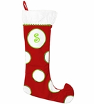 Monogrammed Christmas Stockings - Red & White - Personalized Free!
