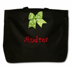 Monogrammed Christmas Tote Bag