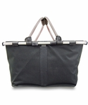 Monogrammed Collapsible Market Tote - Black