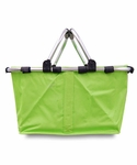 Monogrammed Collapsible Market Tote - Lime Green