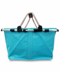 Monogrammed Collapsible Market Tote - Turquoise