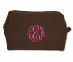Monogrammed Cosmetic Bag - New! Chocolate & Berries