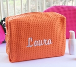 Monogrammed Cosmetic Bags - 7 Color Choices