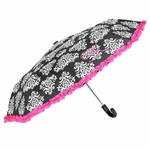 Monogrammed Damask Print Umbrella