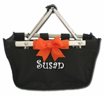 Monogrammed Halloween Basket - Personalized Halloween Bags