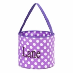 Monogrammed Halloween Bucket - Trick or Treat Bag