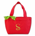 Monogrammed Holiday Lunch Tote
