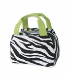 Monogrammed Insulated Lunch Tote Bag - Lime Zebra