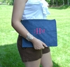 Monogrammed Jute Carry All Case in Navy