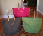 Monogrammed Large Jute Totes - Eco Friendly Gift!