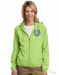 Monogrammed Lightweight Jacket - Lime Green