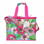 Monogrammed Lilly Pulitzer Insulated Cooler - Big Flirt