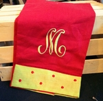 Monogrammed Linen Hand Towels - Set of 2