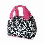 Monogrammed Lunch Bag - Damask Print