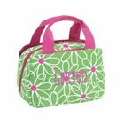 Monogrammed Lunch Bag - Preppy Daisies - On Sale This Week Only!