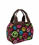 Monogrammed Lunch Tote Bag - Peace Sign CLEARANCE