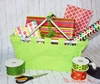 Monogrammed Market Tote - Lime with Festive Ribbon