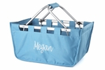 Monogrammed Market Tote - Turquoise - Large Market Tote