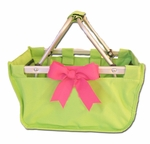Monogrammed Mini Market Tote - Lime Green