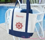 Monogrammed Nautical Boat Tote