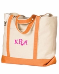 Monogrammed Personalized Beach Bag - Florida Orange - HUGE BAG!!