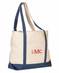 Monogrammed Personalized Beach Bag - Trendy Blue