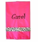 Monogrammed Pillowcase - Pink with Choice of Ribbons