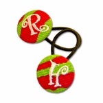 Monogrammed Ponytail Holders - Set of 2