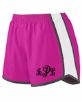 Monogrammed Running Shorts - Personalized Running Shorts - Pink