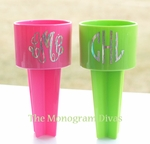 Monogrammed Sand Spikes with Holographic Monogram