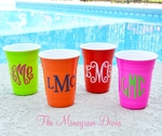 Monogrammed Solo Style Party Cups - Reusable Cups