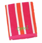 Monogrammed Striped Beach Towels