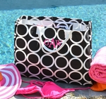 Monogrammed Tote Bag Black & White Rings