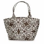 Monogrammed Tote Bag - Classic Curls Little Bettie Bag