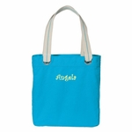 Monogrammed Tote Bag - Easy Tote - Turquoise