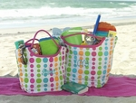 Monogrammed Tote Bag - Fun Dots - Cute Monogrammed Beach Bag