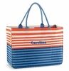 Monogrammed Tote Bag - Navy Stripes Day Tripper