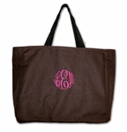 Monogrammed Tote Bag - New! Chocolate & Berries