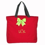 Monogrammed Tote Bag - Red